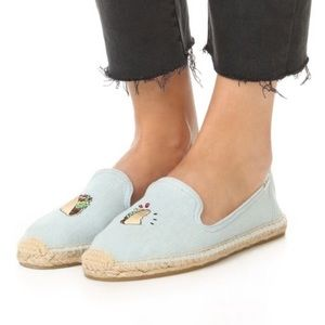 Soludos Taco Smoking Slippers Espadrille Flats 7.5